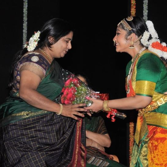 Smt. Veena Murthy Vijay being felicitated