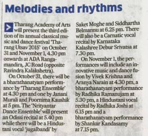 Thrang Utsav 2015 Write Up Deccan Herald
