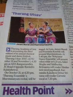 Tharang Utsav 2015 Write Up Deccan Herald