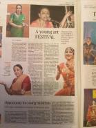 Write Up in Hindu Friday Review - Tharang Utsav 2018