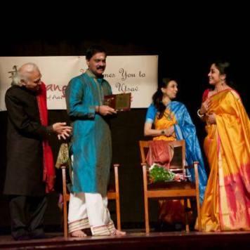 Shri Narayanaswamy awarded Life time Achivement award by Smt. Sharmila Mukherjee