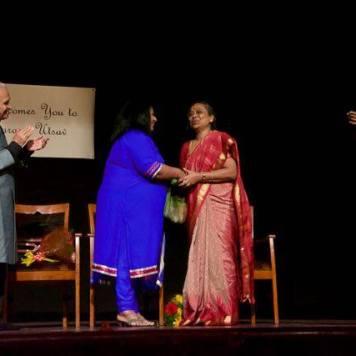 Smt. Reena Basu Awarded Life Time achievement award by Smt. Meena Das